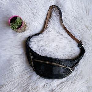 Vintage Leather Belt Bag Crossbody Swag bag